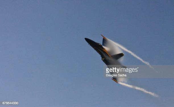 supersonic jet aircraft - blue angels stock pictures, royalty-free photos & images