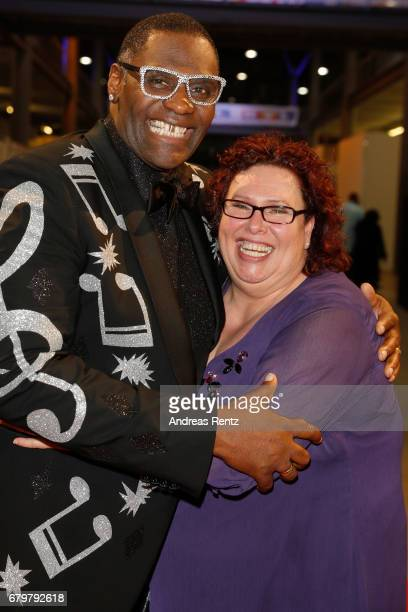 'Superstar 2017' Alphonso Williams and his wife attend the after show during the finals of the tv competition 'Deutschland sucht den Superstar' at...