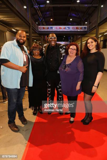 'Superstar 2017' Alphonso Williams with his wife and his family attend the after show during the finals of the tv competition 'Deutschland sucht den...