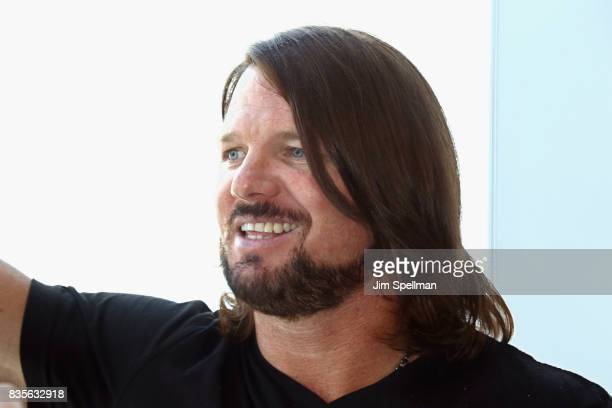 Superstar AJ Styles attends the WWE Superstars Surprise MakeAWish Families at One World Observatory on August 19 2017 in New York City