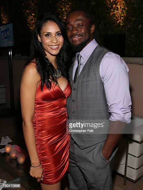 Superstar attends the WWE SummerSlam VIP KickOff Party at Beverly Hills Hotel on August 16 2012 in Beverly Hills California