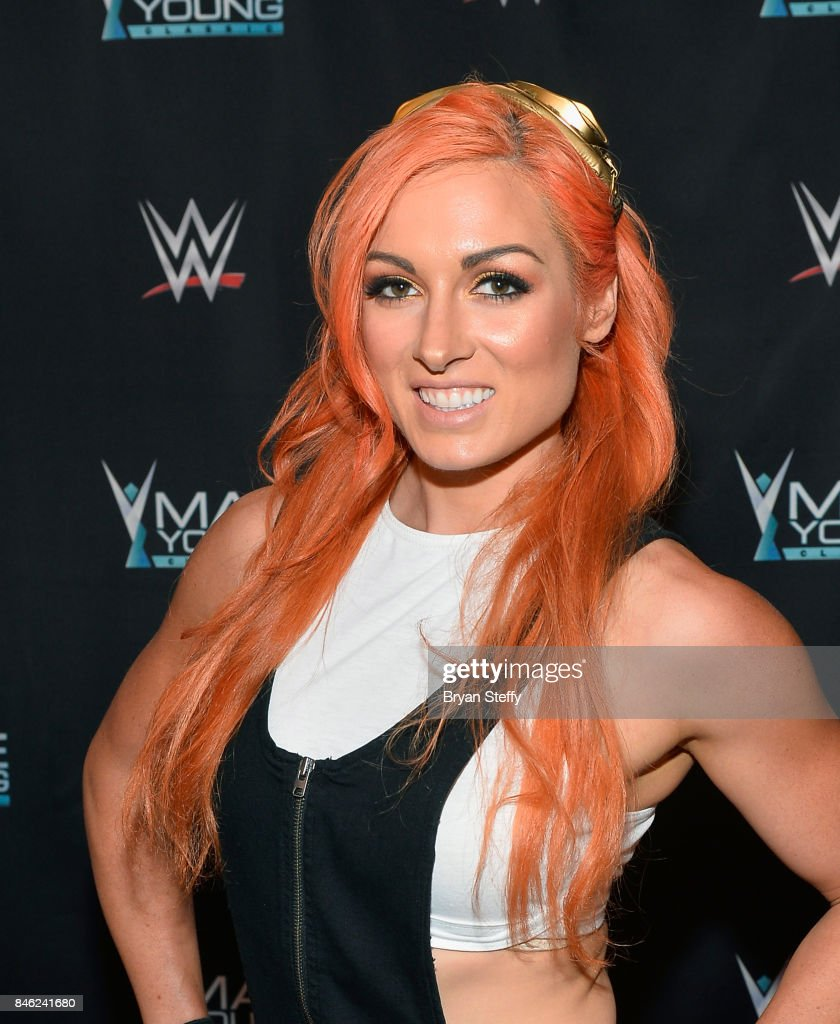 Superstar Becky Lynch appears on the red carpet of the WWE Mae Young Classic on September 12, 2017 in Las Vegas, Nevada.