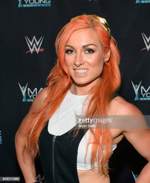 Superstar Becky Lynch appears on the red carpet of the WWE Mae Young Classic on September 12 2017 in Las Vegas Nevada