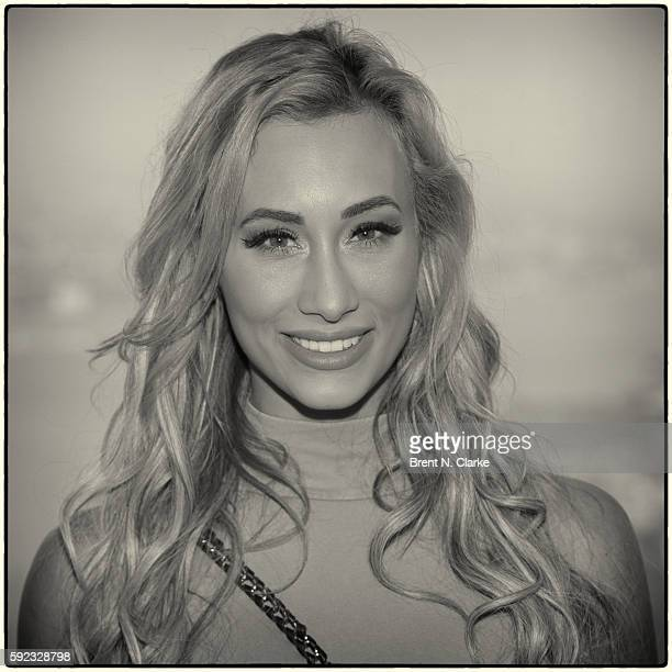WWE superstar Carmella poses for photographs during her visit to One World Observatory in advance of SummerSlam on August 20 2016 in New York City