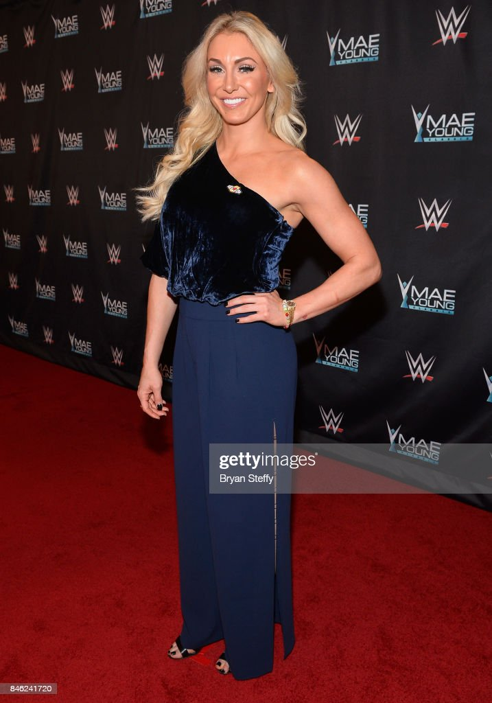 Superstar Charlotte Flair appears on the red carpet of the WWE Mae Young Classic on September 12, 2017 in Las Vegas, Nevada.