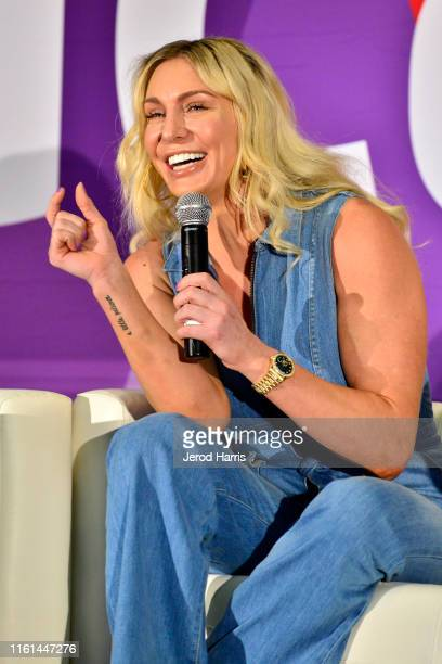 Superstar Charlotte Flair attends 2019 VidCon at Anaheim Convention Center on July 11 2019 in Anaheim California