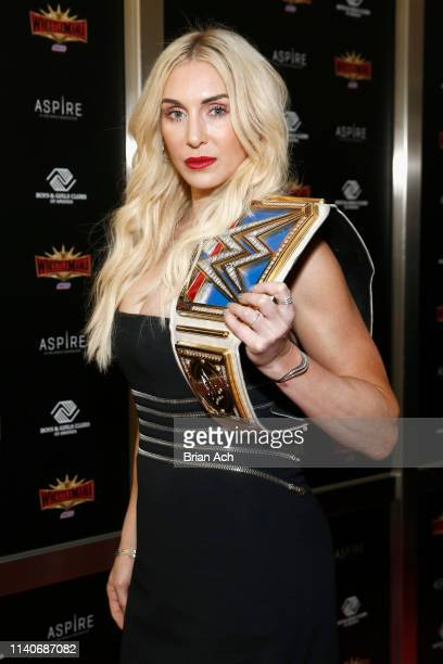 Superstar Charlotte Flair attends the WWE Superstars For Hope Reception on April 05 2019 in New York City