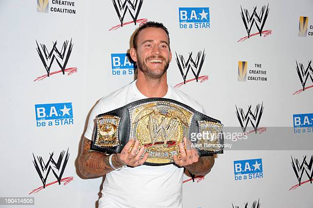 Superstar CM Punk attends the WWE Summerslam kick off party at The Beverly Hills Hotel on August 16 2012 in Beverly Hills California