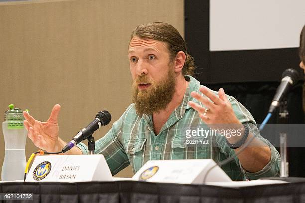 Superstar Daniel Bryan speaks at Wizard World Comicon at Oregon Convention Center on January 24, 2015 in Portland, Oregon.