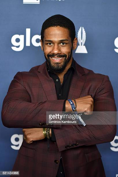 WWE superstar Darren Young attends the 27th Annual GLAAD Media Awards in New York on May 14 2016 in New York City