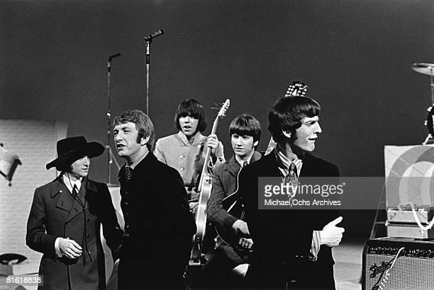 Superstar group 'Buffalo Springfield' perform on a TV show in 1967 Stephen Stills Dewey Martin Neil Young Richie Furay Jim Fielder