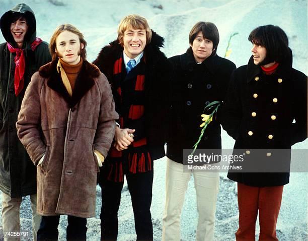 Superstar group 'Buffalo Springfield' pose for a portrait in 1967 Bruce Palmer Stephen Stills Dewey Martin Richie Furay Neil Young