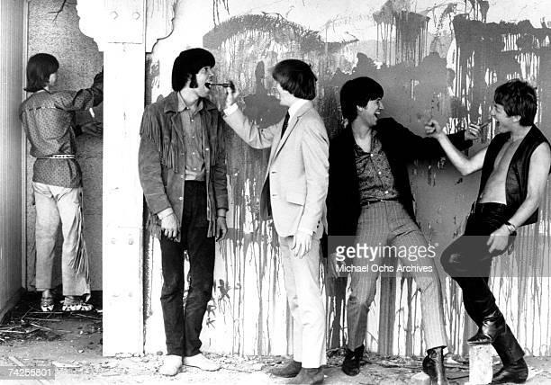 Superstar group 'Buffalo Springfield' pose for a portrait in 1967 Bruce Palmer Neil Young Stephen Stills Richie Furay Dewey Martin