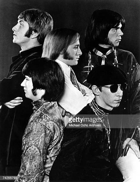 Superstar group 'Buffalo Springfield' pose for a portrait in 1967 Dewey Martin Neil Young Bruce Palmer Richie Furay Stephen Stills
