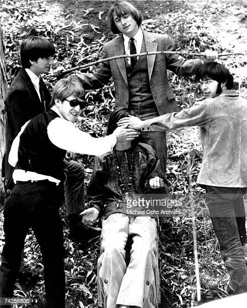 Superstar group 'Buffalo Springfield' pose for a portrait in 1967 Richie Furay Dewey Martin Stephen Stills Neil Young Bruce Palmer