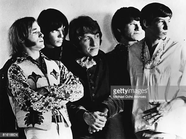 Superstar group 'Buffalo Springfield' pose for a portrait in 1967 Stephen Stills Neil Young Dewey Martin Richie Furay Bruce Palmer