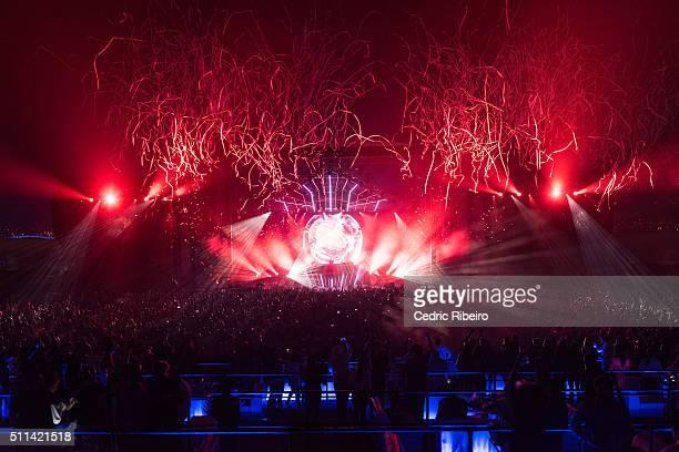 EDM superstar Hardwell performs his global tour I AM Hardwell United We Are in Dubai at Meydan on February 19 2016 in Dubai United Arab Emirates