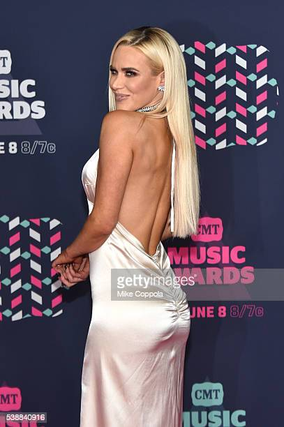 Superstar Lana attends the 2016 CMT Music awards at the Bridgestone Arena on June 8, 2016 in Nashville, Tennessee.