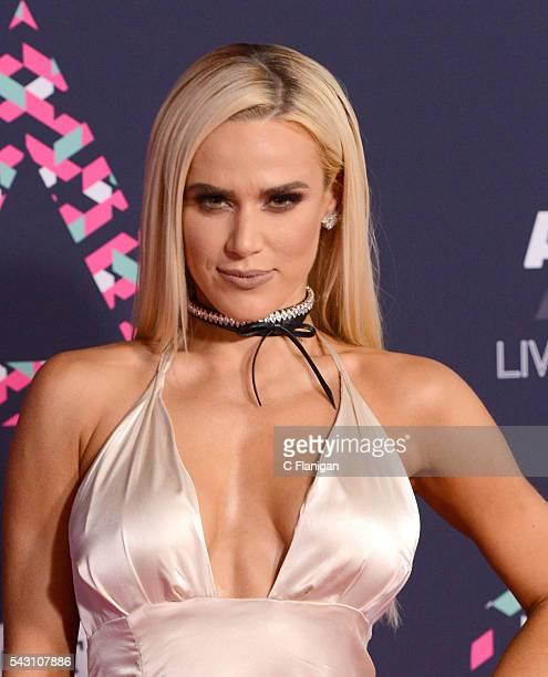 WWE superstar Lana attends the 2016 CMT Music awards at the Bridgestone Arena on June 8 2016 in Nashville Tennessee