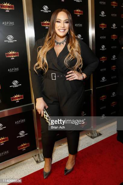 Superstar Nia Jax attends the WWE Superstars For Hope Reception on April 05 2019 in New York City