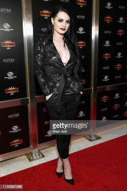 Superstar Paige attends the WWE Superstars For Hope Reception on April 05 2019 in New York City