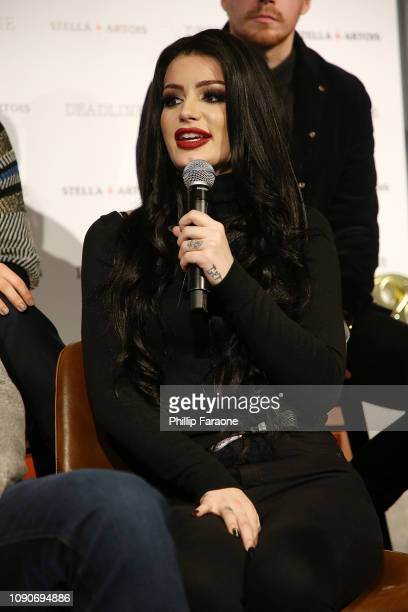 Superstar Paige speaks onstage during the Stella Artois Deadline Sundance Series at Stella's Film Lounge A Live QA with the filmmakers and cast of...