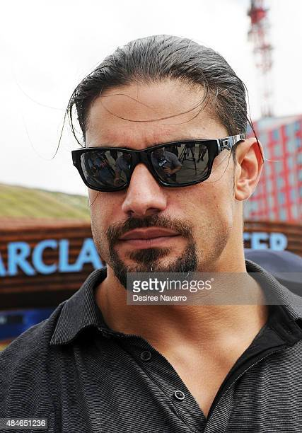 Superstar Roman Reigns attends WWE Answer The Call Tour Visits the Barclays Center at Barclays Center on August 20 2015 in New York City