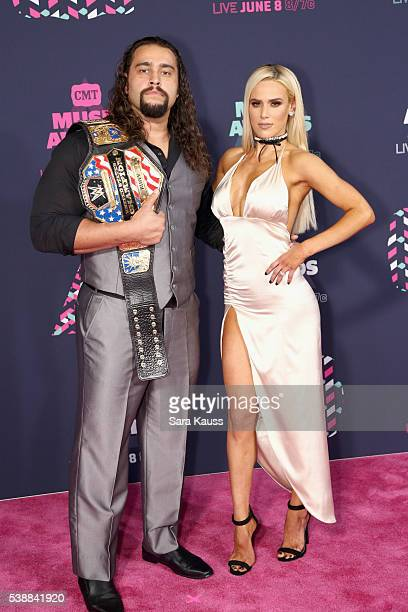 Superstar Rusev and WWE Superstar Lana attend the 2016 CMT Music awards at the Bridgestone Arena on June 8 2016 in Nashville Tennessee