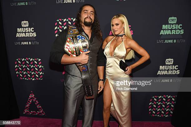 Superstar Rusev and WWE Superstar Lana attends the 2016 CMT Music awards at the Bridgestone Arena on June 8, 2016 in Nashville, Tennessee.