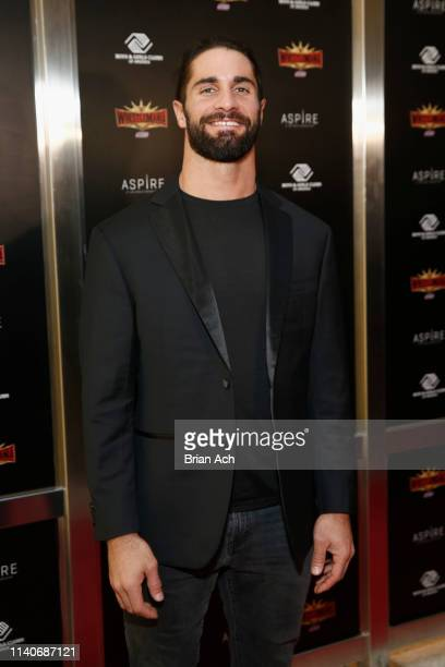 Superstar Seth Rollins attends the WWE Superstars For Hope Reception on April 05 2019 in New York City