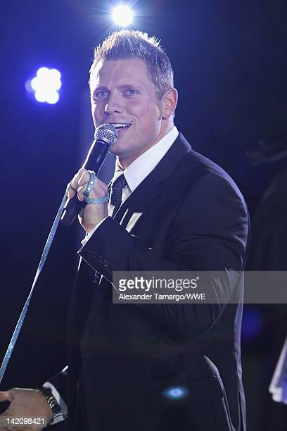 Superstar The Miz attends WrestleMania Premiere Party A Celebration of Miami Art and Fashion on March 29 2012 in Miami Beach Florida