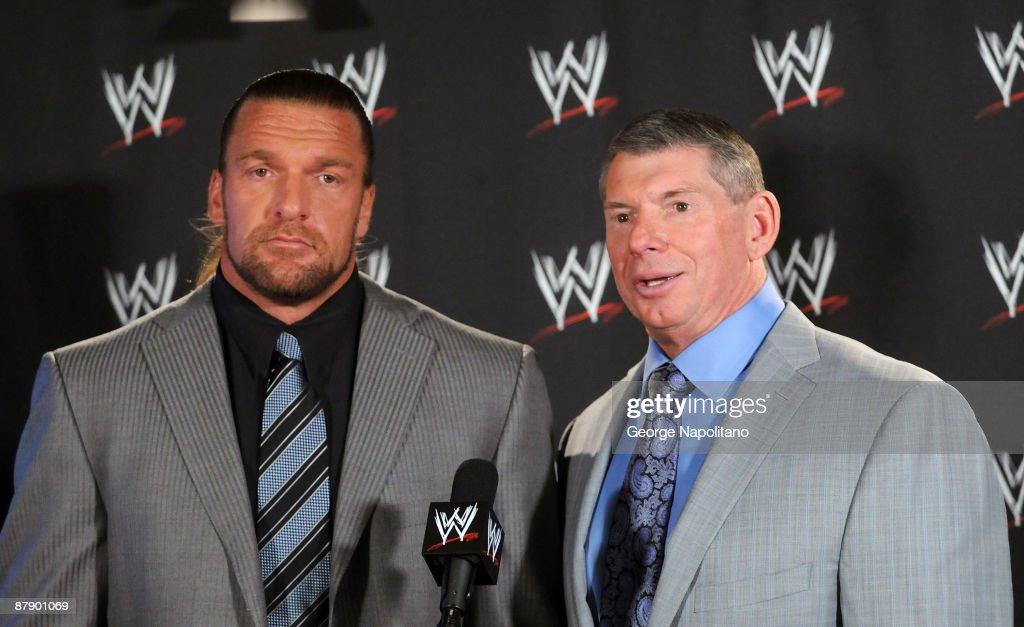 World Wrestling Entertainment  Holds 'Denver Debacle' Press Conference : News Photo