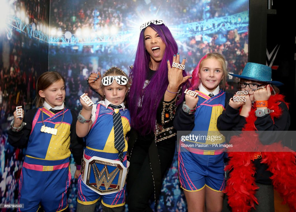 Wwe and kidzania london launch new fan experience pictures getty wwe superstars finn balor and sasha banks meet children from higham ferrers junior school school to m4hsunfo