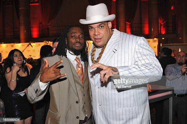 Superstars Kofi Kingston and Brodus Clay attend WWE Superstars for Sandy Relief at Cipriani Wall Street on April 4 2013 in New York City