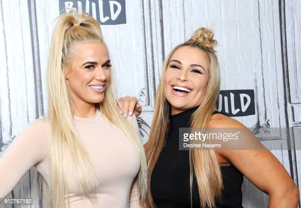 Superstars Lana and Natalya visit Build Series to discuss 'Total Divas' at Build Studio on January 31 2018 in New York City