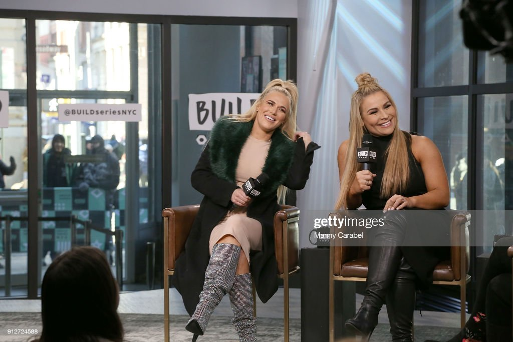 Superstars Lana and Natalya visit the Build Series at Build Studio on January 31, 2018 in New York City.