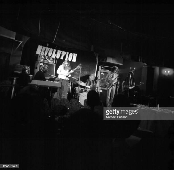 Supertramp perform on stage Revolution Club London LR Rick Davies Richard PalmerJames Robert Millar Dave Winthrop Roger Hodgson