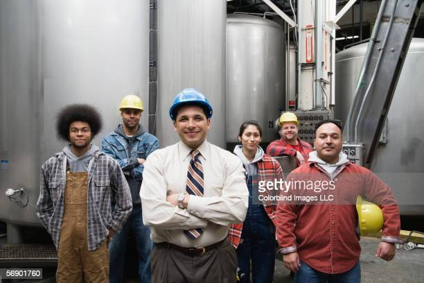 Supervisor and his factory crew