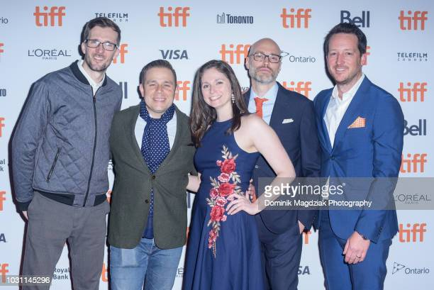 VFX supervisor Dave Jacoboson rerecording mixer Jason Chiodo editor Alexandra Amick producer Christopher Alender and executive David Smith attend the...