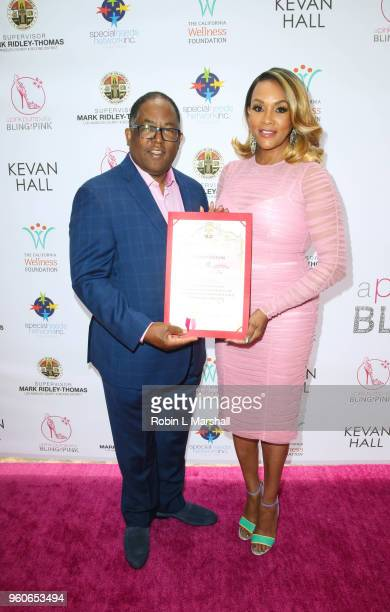 Supervisor Mark RidleyThomas and Actress Vivica A Fox attend the 10th Annual Pink Pump Affair Charity Gala Fundraiser at The Beverly Hills Hotel on...