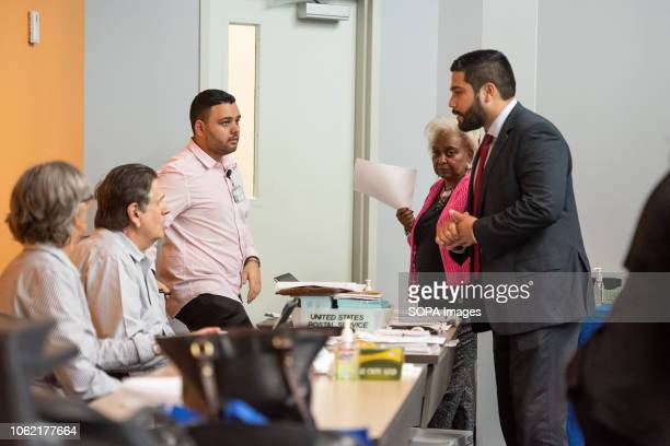Supervisor of Elections Brenda Snipes oversees election recount at the Broward County Supervisor of Elections office in Fort Lauderdale, Florida.