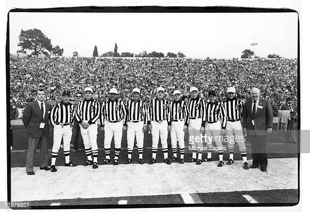 NFL Supervisor of Officials Art McNally Pat Haggerty Tom Hensley Leo Miles Ray Dodez Tom Kelleher Bill Quinby Bob Lewis Jerry Markbreit Bob Boylston...
