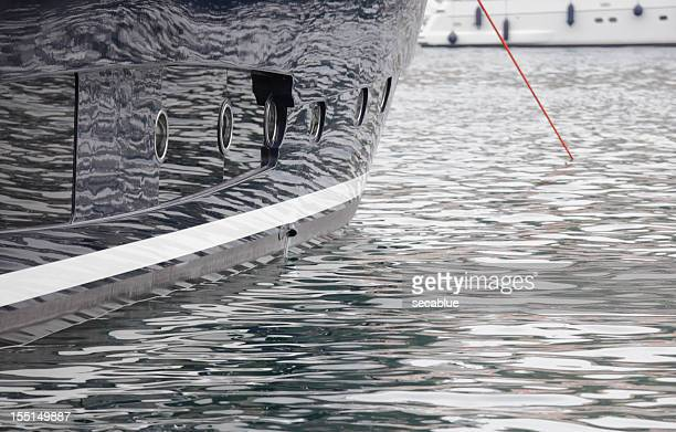 Superyacht hull reflections
