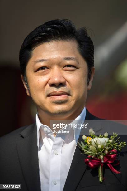Suphachai Chearavanont chief executive officer of Charoen Pokphand Group attends a news conference at the US ambassador's residence in Bangkok...