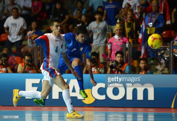 Suphawut Thuenklang of Thailand scores his teams second goal during the FIFA Futsal World Cup Group A match between Thailand and Costa Rica at Indoor...