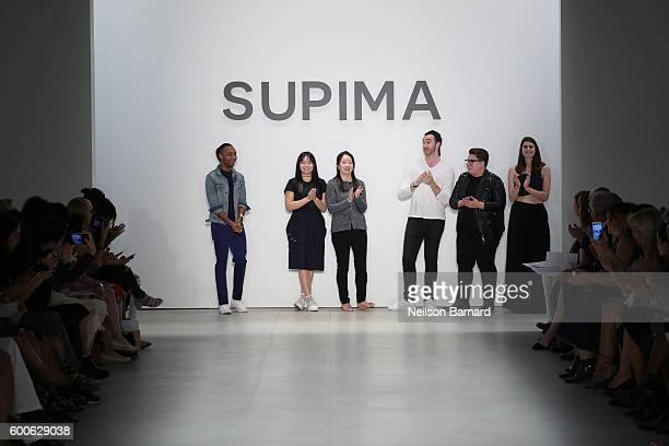 Supima Design Competition Finalists Jeffrey Taylor, Jacqueline Zeyi Chen, Jiyeon Lee, Jacob Blau, Duston Jasso, and Kara Michelle Kroeger at the...