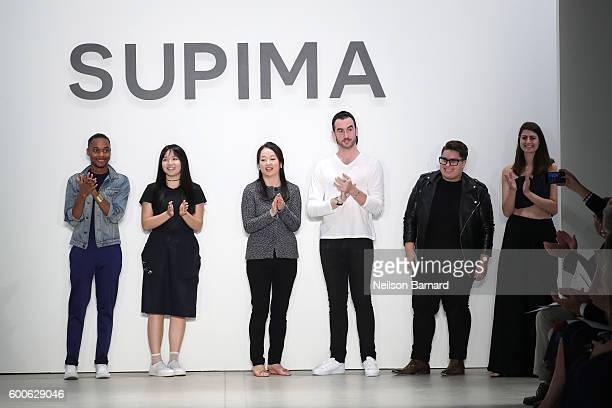 Supima Design Competition Finalists Jeffrey Taylor Jacqueline Zeyi Chen Jiyeon Lee Jacob Blau Duston Jasso and Kara Michelle Kroeger at the Supima...