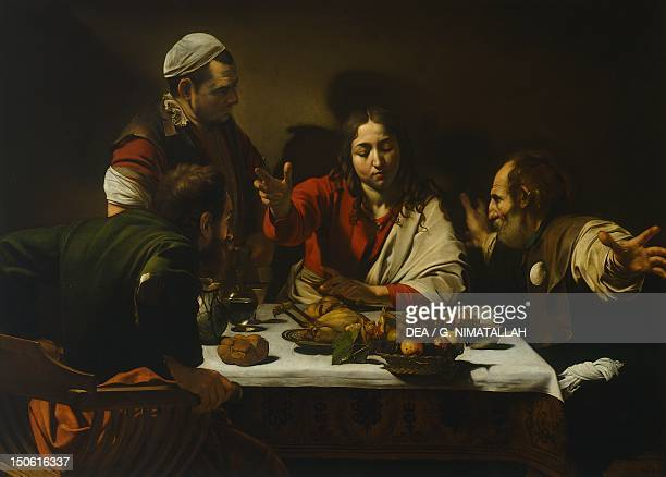 Supper at Emmaus by Michelangelo Merisi da Caravaggio oil on canvas 141x1962 cm
