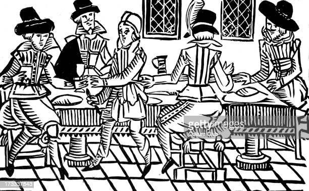 A Supper Party after an early seventeenth century illustration taken from a ballad in the Roxburghe Collection in the British Library The Roxburghe...