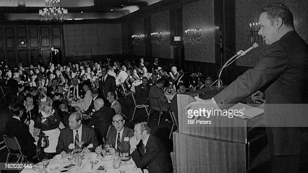 DEC 9 1970 Suppliers Get Cosmo 'Thank You' Robert B Wilhelm general manager of the Cosmopolitan Hotel greets his guests at the hotel's fourth annual...